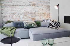 FEST Amsterdam Bank 'Dunbar' light gray Sydney91 2-seater and longchair left or right - Wonen met LEF!