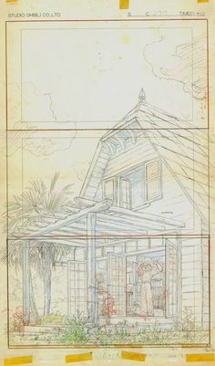 Film: My Neighbor Totoro ===== Layout Design: The Kusakabe Household