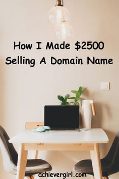 I Sold A Domain Name For $2500 Without Doing Anything!  Yes you can make money from selling domain names! #achievergirl #sellingdomans #domainnames #makingmoney #makemoneyonline Make Money Fast Online, Quick Money, Way To Make Money, How To Make, Web Domain, Online Marketing Strategies, Selling On Pinterest, Do Anything, Gain