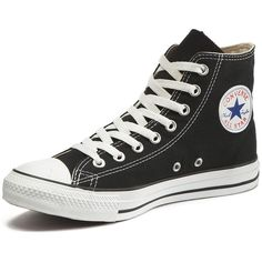 Converse Chuck Taylor All Stars Hi Top Plimsolls ($60) ❤ liked on Polyvore featuring shoes, sneakers, converse, trainers, converse high tops, retro high top sneakers, vintage shoes, bear trainer and retro shoes