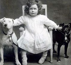 This determined little girl was probably photographed in the late to early with her possible Bull Terrier and Staffordshire Bull Terrier. Vintage Dog, Vintage Children, Dogs And Kids, I Love Dogs, Dog Photos, Dog Pictures, Nanny Dog, Pit Bull Love, Old Dogs