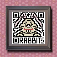 583 Rabbit Asian zodiac animal as QR code by TwoBananasArt on Etsy, $20.00