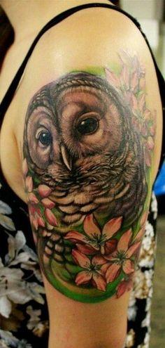 En deze zou ik misschien zelf best willen! Owl tattoo.