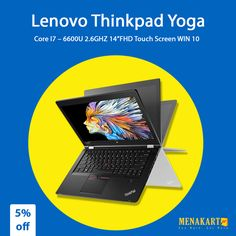 "Shop for Lenovo Thinkpad Yoga P40 Core I7 – 6600U 2.6GHZ 14""FHD Touch Screen WIN 10 Online #Lenovo #Thinkpad #Online #Shopping #Menakart #Laptops #Electronics"