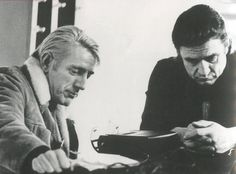 1970 Rod McKuen and Johnny Cash 01 In Nashville during rehearsal for an episode of Cash's TV series. Photo by M. James, ABC-TV.21