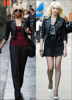 taylor momsen punk rock formal and casual how to wear a black leather jacket Taylor Momsen Style, Taylor Michel Momsen, Grunge Fashion, Star Fashion, Rock Fashion, Lolita Fashion, Emo Fashion, Punk Outfits, Fashion Outfits