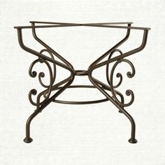 View the Moravian Dining Base from Arhaus. This hand-forged, solid iron base, has a distinctive silhouette. Combine this base with one of dining to