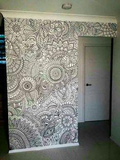 hand drawn mural