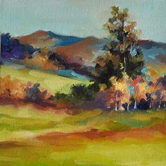Original Impressionist Mountain Landscape by ArtCornerShop on Etsy