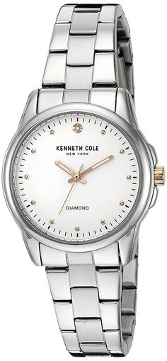 Kenneth Cole New York Women's 'Diamond Rock Out' Quartz Stainless Steel Dress Watch, Color:Silver-Toned (Model: 10026478) ** Check out this great watch.