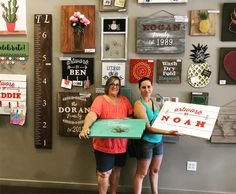 You don't have to be a professional crafter to make at @pinspirationaz! We make it easy to try DIY! #woodsigns #pinterest #pinspirationaz #artwork #kidsart #makers #phoenix #scottsdale #highstreetaz