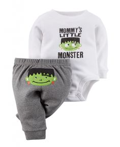 Stylish Carter's Baby Boys' Halloween 2-piece Bodysuit & Pant Set – Baby Halloween Outfits
