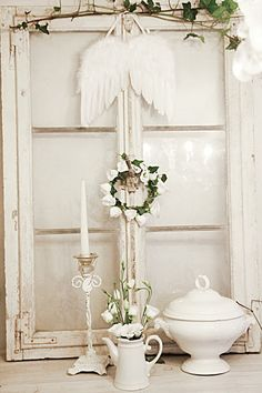 Love the whimsical decor...not too sure about the angel wings tho.