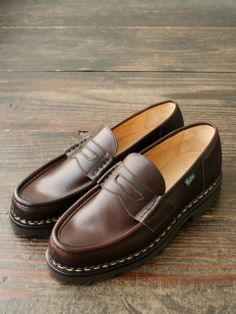 Paraboot Reims Tie Shoes, Men's Shoes, Shoe Boots, Dress Shoes, Penny Loafers, Loafers Men, Fashion Boots, Mens Fashion, Texaco