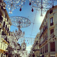 Navidad en C/ Larios, Malaga (España) / Christmas in Larios Street, Malaga (Spain).