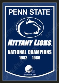 Dynasty Banner Of Penn State Nittany Lions With Team Color Double Matting-Framed Awesome & Beautiful-Must For A Championship Team Fan! Most NCAA Team Dynasty Banners Available-Plz Go Through Description & Mention In Gift Message If Need A different Team Art and More, Davenport, IA http://www.amazon.com/dp/B00FDNVQ70/ref=cm_sw_r_pi_dp_V1oJub11WQC98