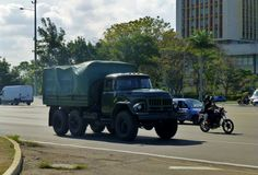 Cuban Zil-131, Havana Cuban Army, Cold War, Havana, Military Vehicles, Countries, Monster Trucks, Army Vehicles