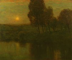 """The Golden Hour (The Morris Canal, Bloomfield, New Jersey),"" Charles Warren Eaton, ca. 1900-10, oil on canvas, 30 x 36"", private collection."