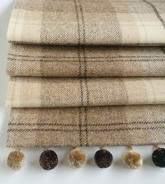 Natural Tweed Roman Blind from notonthehighstreet.com