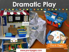Dramatic Play ideas, activities and printables for preschool and kindergarten