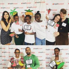 Students, teachers and partners having fun at our photo booth today during the HCU Summit in NYC.  #wearehealthcorps #healthcorps #health #wellness #education #teens #fun