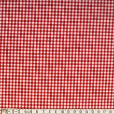 ΚΑΡΟ, ΚΟΚΚΙΝΟ Gingham Fabric, Red Fabric, Cotton Fabric, Fireman Party, Check Fabric, Cherry Cherry, Logos, Etsy, Fire Fighter Party