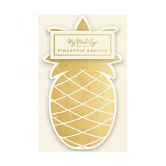 Gold pineapple banner