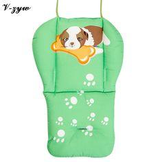Cartoon Cotton Stroller Liner Seat Cushion Pram Pad Baby Chair Car Seat Accessories  on AliExpress
