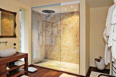 KASHMIR MANGO bathroom by Mörz Mango, Natural Stones, Divider, Bathtub, Bathroom, Projects, Furniture, Home Decor, Grenades