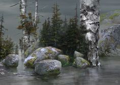 White Tree Village, Marta Grajper on ArtStation at https://www.artstation.com/artwork/daxbX