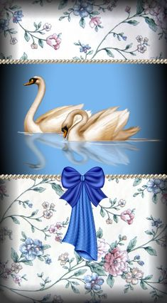 By Artist Unknown. Swan Wallpaper, Bling Wallpaper, Flowery Wallpaper, Flower Backgrounds, Wallpaper Backgrounds, Cellphone Wallpaper, Iphone Wallpaper, Swan Pictures, Golden Design