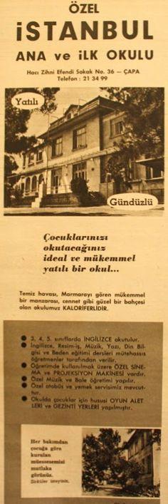 OĞUZ TOPOĞLU : özel istanbul ana ve ilkokulu 1959 nostaljik eski ...