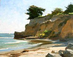 Ledbetter Beach, Santa Barbara, Oil, Frank Serrano