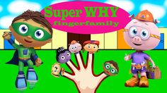 Super WHY Finger Family Nursery clhildren rhymes