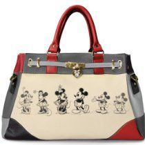 Handbag: Disney Mickey And Minnie Love Story Handbag by The Bradford Exchange