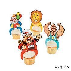Big Top Character Cupcake Picks