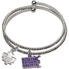 LogoArt New York Rangers Ladies Hockey Fights Cancer Rhinestone Bracelet Pittsburgh Penguins Gear, Minnesota Wild Hockey, Nhl Boston Bruins, Chicago Blackhawks, Bruins Hockey, Hockey Mom, Nhl News, Beat Cancer, Cancer Facts