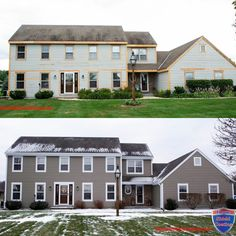 Why Paint Again? Home Shield Coating® is designed to be a money saving alternative to painting or staining. House Siding, House Paint Exterior, Exterior Doors, Entry Doors, Home Shield, Seamless Gutters, Painting Contractors, Exterior Remodel, Home Upgrades