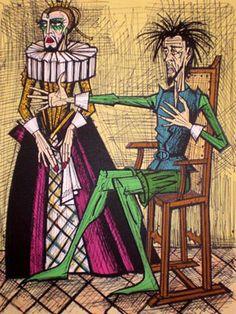 Bernard Buffet - Don Quixote Man Of La Mancha, Dom Quixote, 23 November, Abstract Faces, Unusual Art, Art Original, Pictures To Draw, Gravure, Art Fair