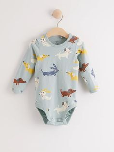 Long sleeve bodysuit with dog pattern | Lindex Slovakia Dog Pattern, Long Sleeve Bodysuit, Onesies, Aqua, Sleeves, Kids, Clothes, Fashion, Moda