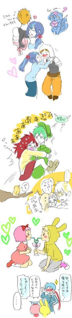 HTF Happy Tree Friends anime couples Handdy Petunia Flacky Flippy