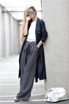 How to wear the striped wide pants this summer – Just Trendy Girls