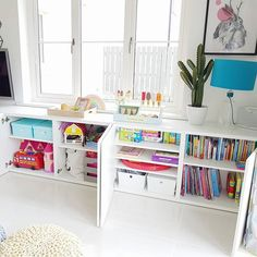 IKEA Besta hack for toy storage in kid playroom decor, girl bedroom decor with t. - PDB Trending IKEA Besta hack for toy storage in kid playroom decor, girl bedroom decor with toy and craft storage, kid room decor Toy Room Storage, Outdoor Toy Storage, Craft Storage, Ikea Kids Storage, Storage Ideas, Ikea Living Room Storage, Living Room Toy Storage Solutions, Storage For Toys, Kitchen Storage