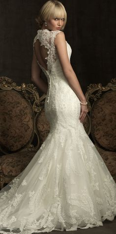 Beautiful open back wedding dress