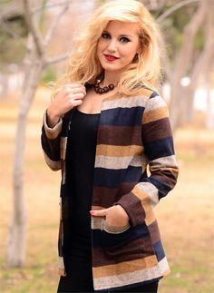 Bayan Hırka Renkli Çizgili  Modelleri ve Uygun Fiyat Avantajıyla   Modabenle