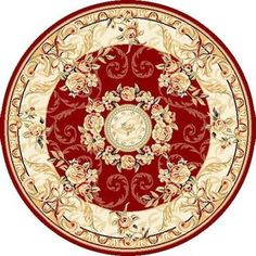 Safavieh Lyndhurst Elizabeth Traditional Oriental Medallion Rug x Round - Red/Ivory) Moe Manga, Round Area Rugs, Carpet Design, Persian Carpet, Persian Rug, Estilo Retro, Beige Area Rugs, Colorful Rugs, Rugs On Carpet