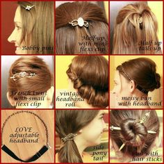 So many beautiful and simple hairstyles with Lilla Rose and prices for hair jewelry starts at only $11! http://lillarose.biz/proverbswife