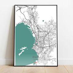 Marsella Dinero heist - Marsella mapa - Marsella cartel - Marsella impresión - Marsella mapa - Marsella arte de pared Cities, Instagram, Shower, Prints, Poster, Maps, Marseille, Wall Art, Impressionism