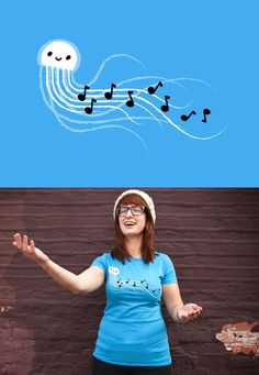 """Threadless tee """"Jellyfish Can't Carry a Tune"""" by Mitch Ansara - released on March 12, 2012"""