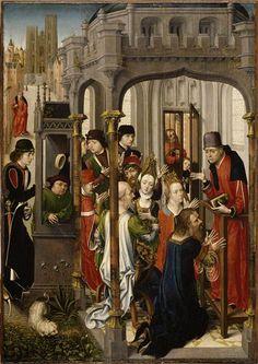 (Flanders) Master of St Gudule~St Augustine preaching~1480 Musee de Louvre Paris